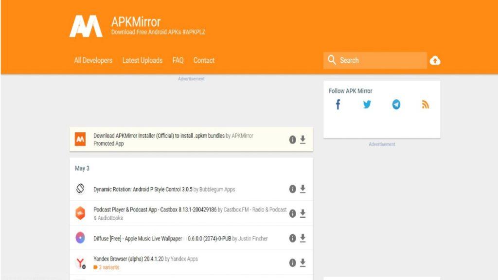 APK Mirror app store
