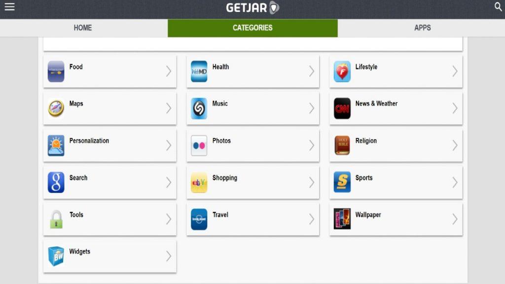 Getjar best 3rd party app stores