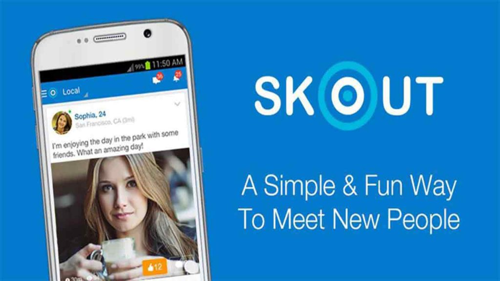 Skout is one of the best stranger chat apps for android and iOS that helps you to talk with people around the world