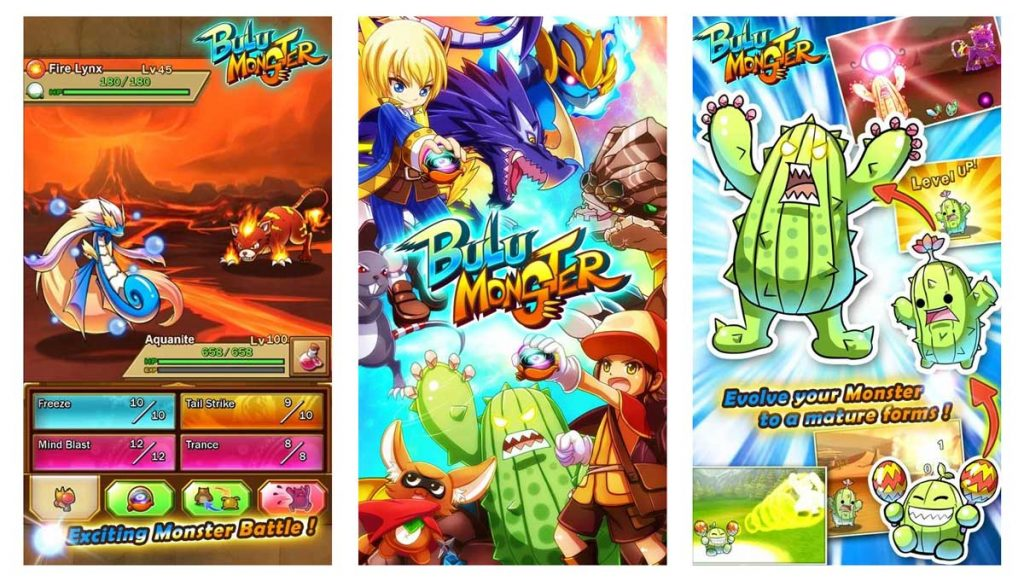 Bulu Monster is one of the best games like pokemon go for android and ios