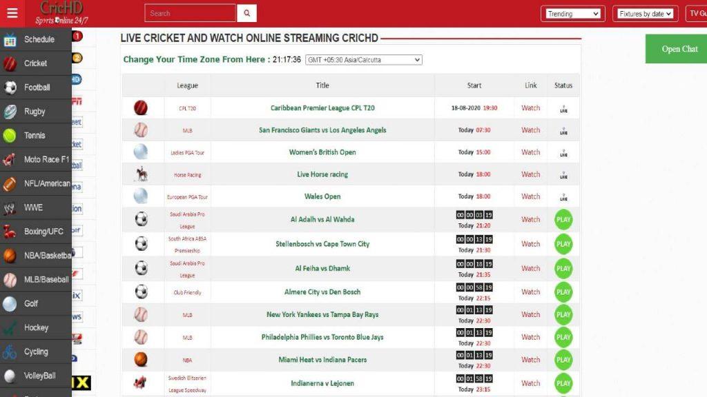 crichd best website to watch live stream