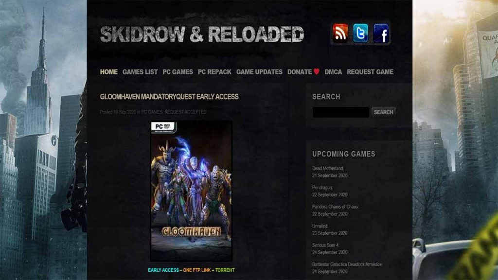 Skidrowreloaded is one of the best websites to download PC games for free