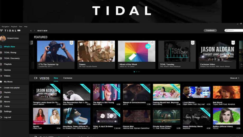 Tidal is one of the best Spotify Alternatives