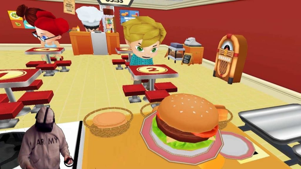 Cooking Vr is one of the best restaurant games for PC