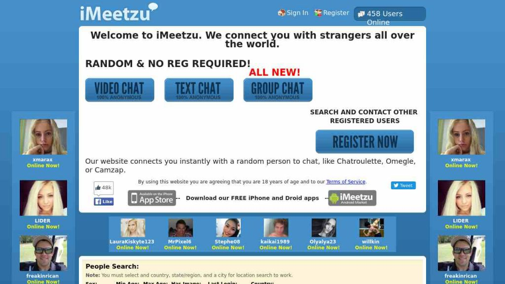 Imeetzu is one of the best chat and video chat apps for people who loves to talk with strangers